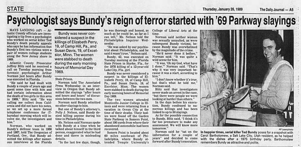 Bundy Ocean City New Jersey murder Perry Davis