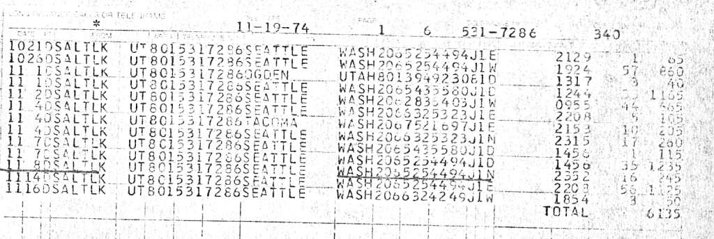 Ted Bundy phone records