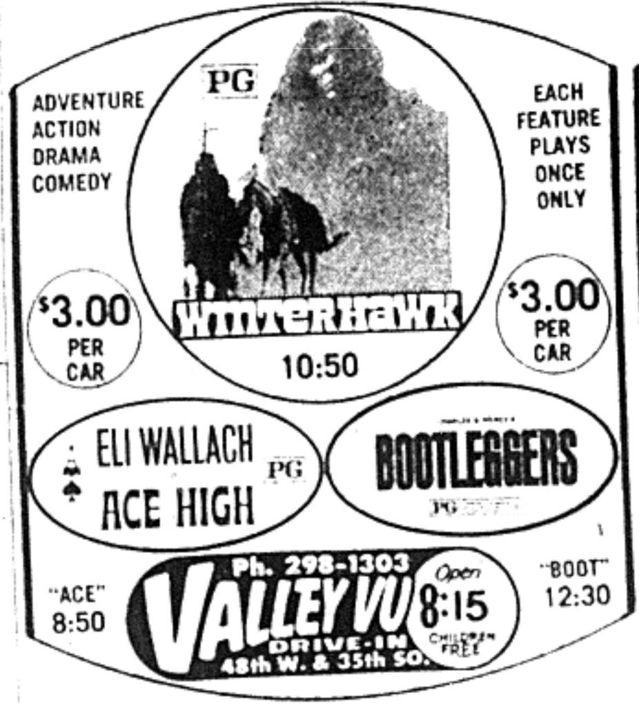 Valley Vu drive-in trio of Westerns Hayward Ted Bundy