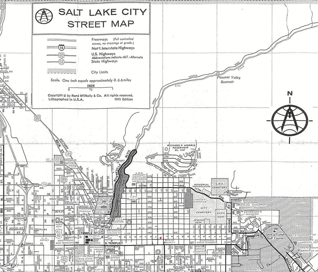 Ted Bundy Salt Lake City map