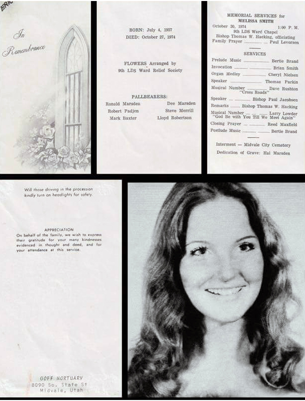 Melissa Smith Ted Bundy funeral memorial program